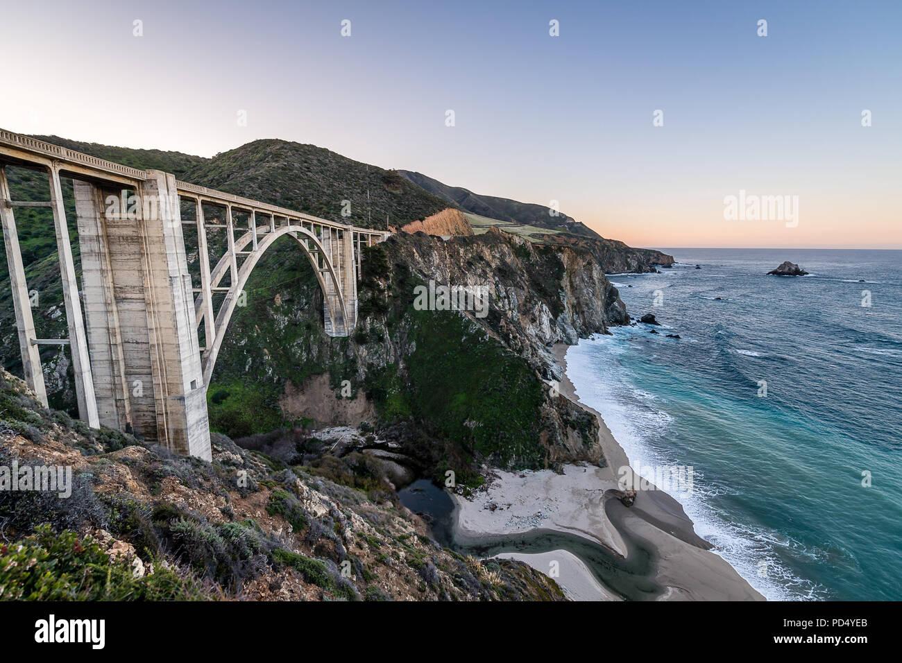 Bixby Creek Bridge - Stock Image