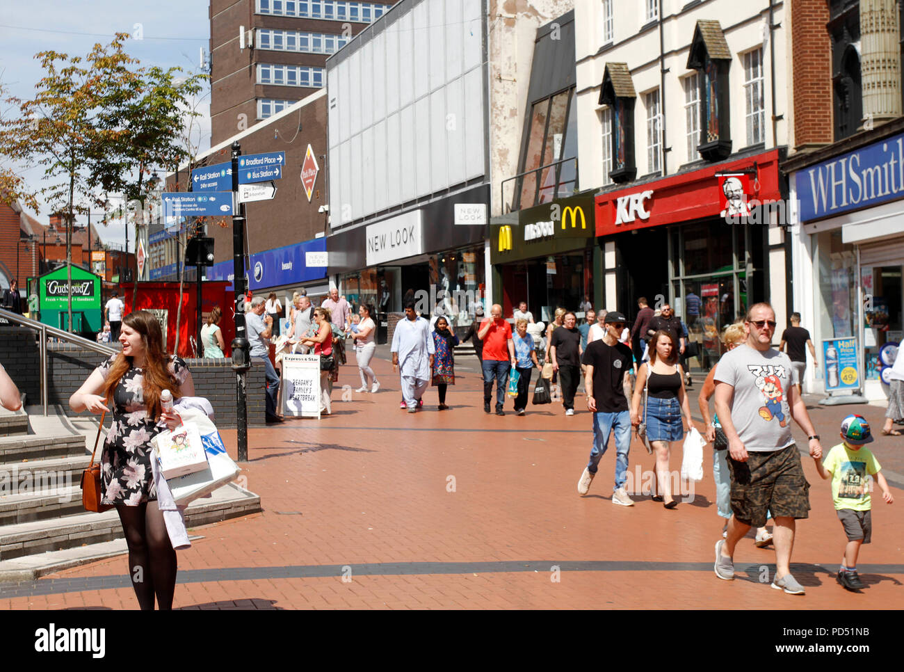 WALSALL TOWN CENTRE - Stock Image