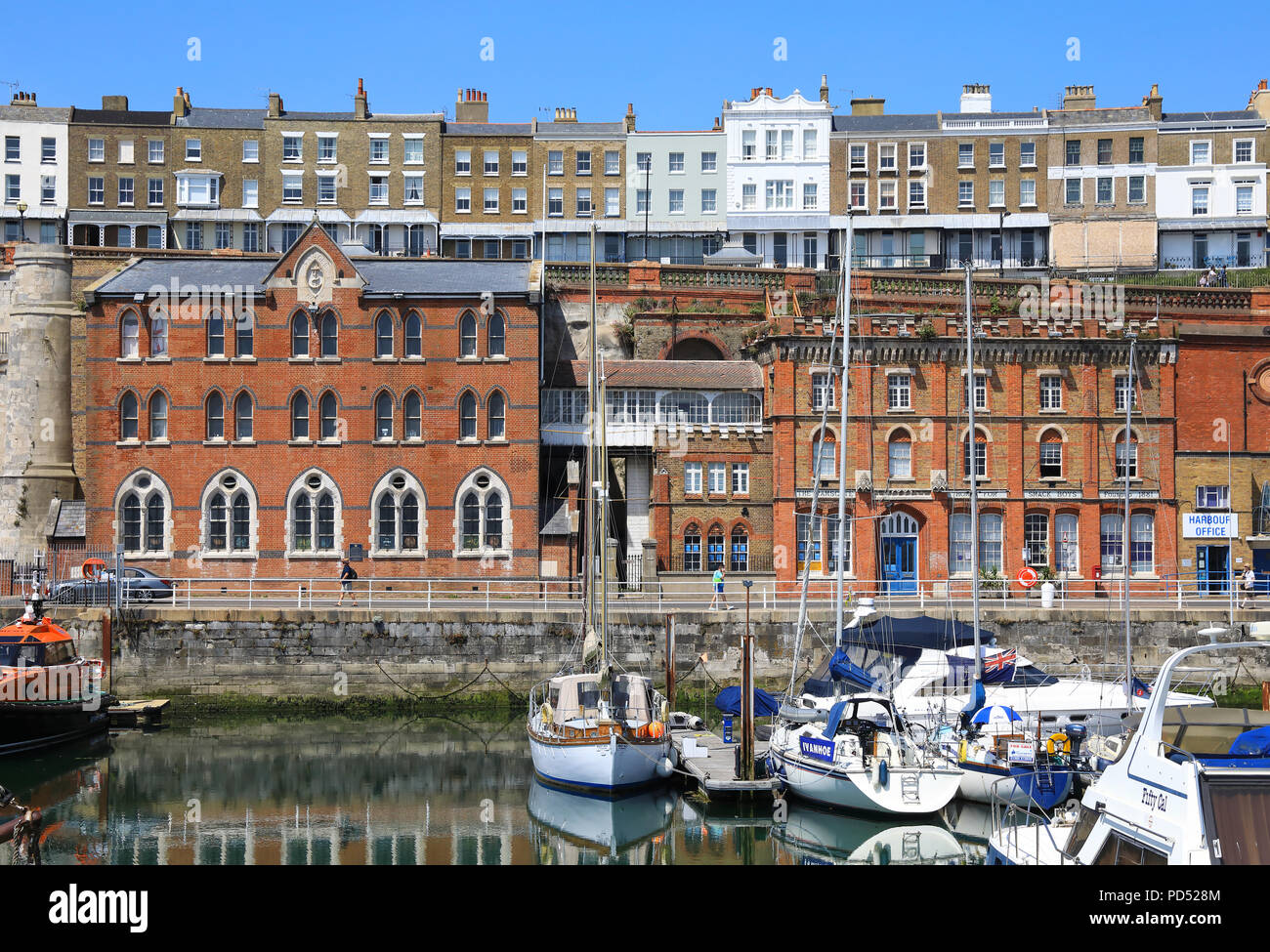 The Sailors' Church, next to the Ramsgate Home for Smack Boys, on the harbour, on the Isle of Thanet, Kent, UK - Stock Image