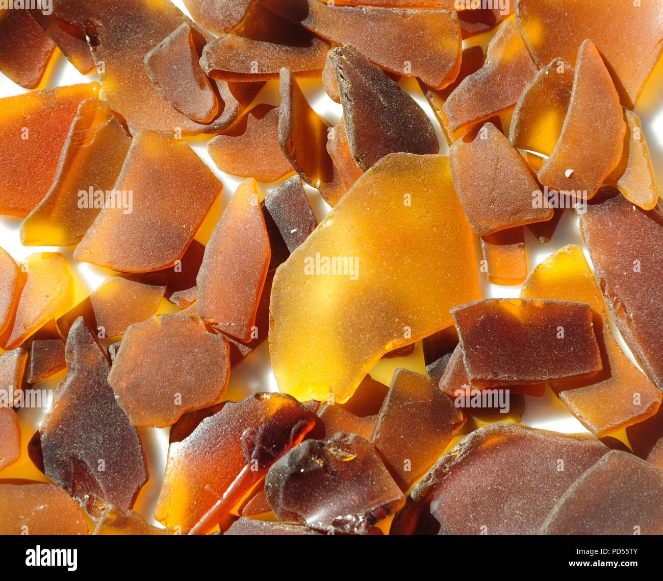 Real Florida Beach Glass - Stock Image