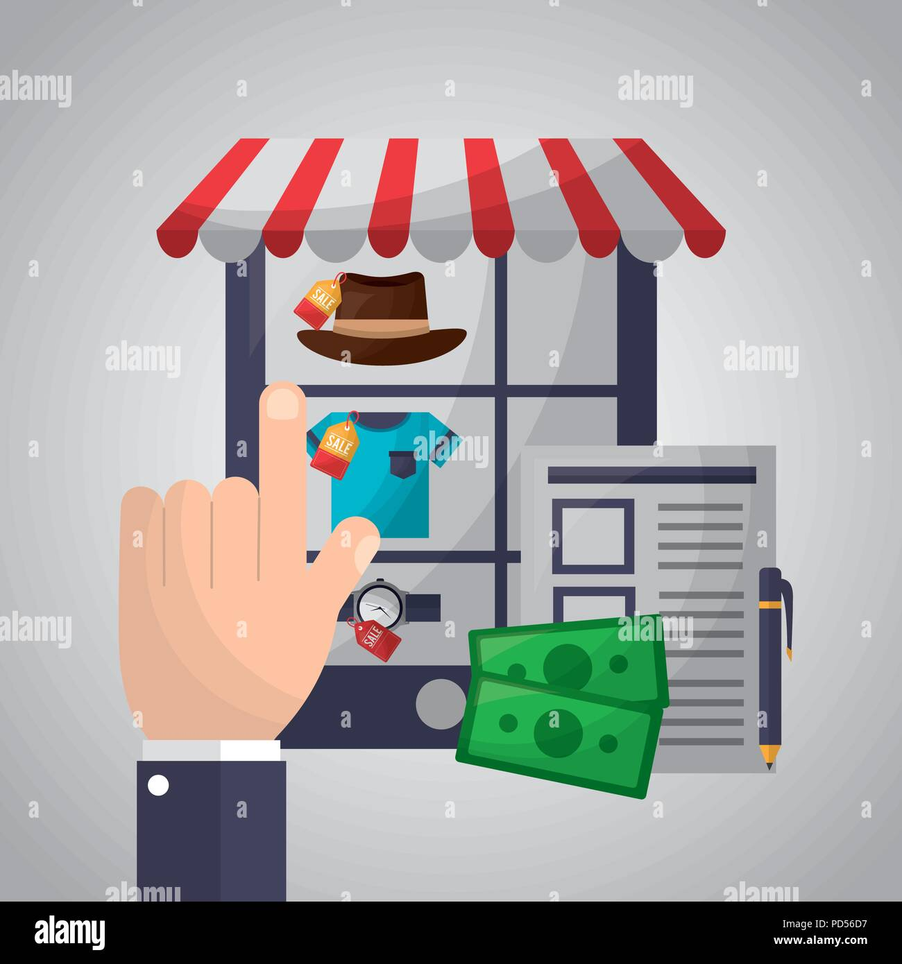 online shopping card - Stock Image
