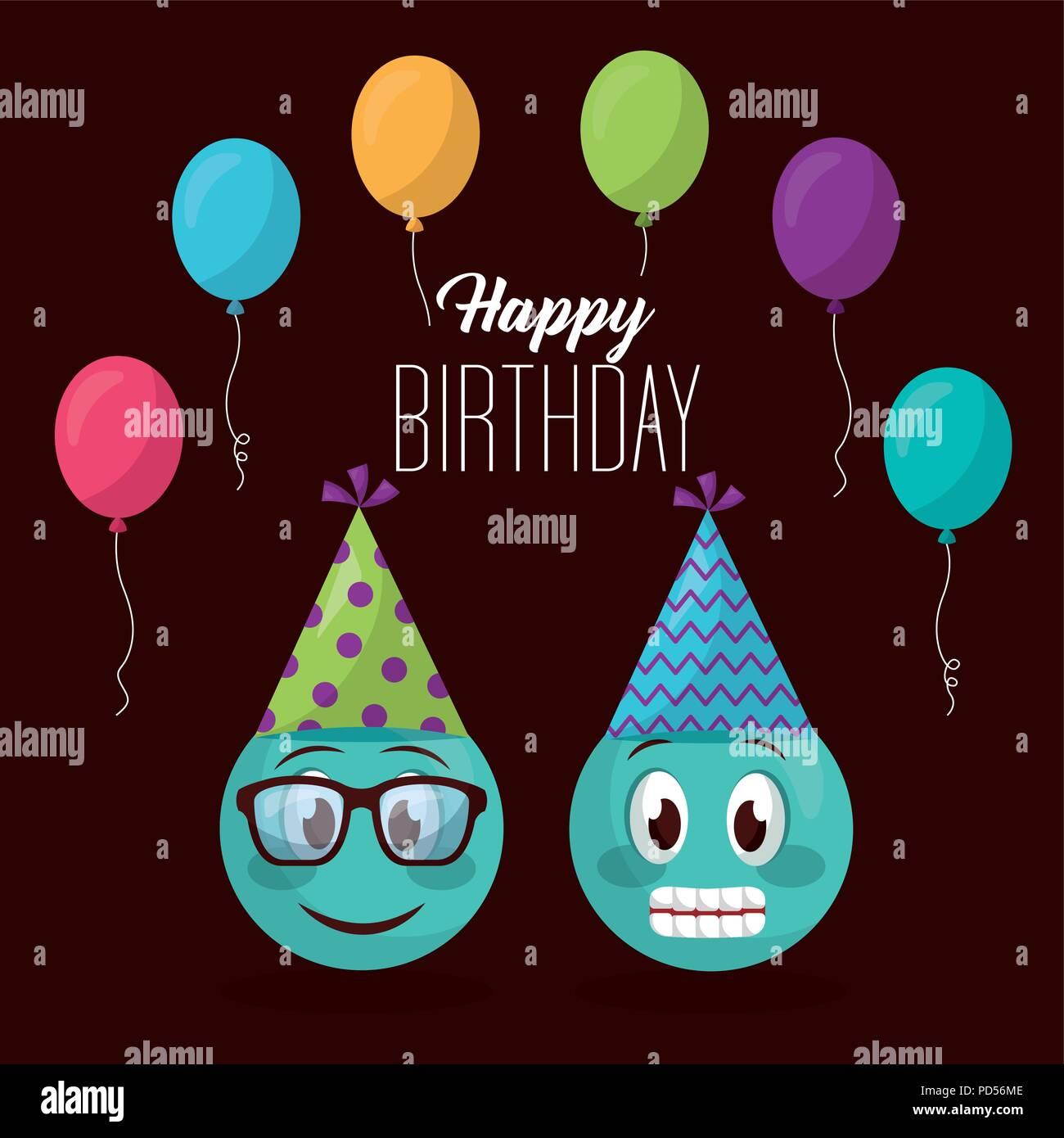 Happy Birthday Card Stock Vector Art Illustration Image