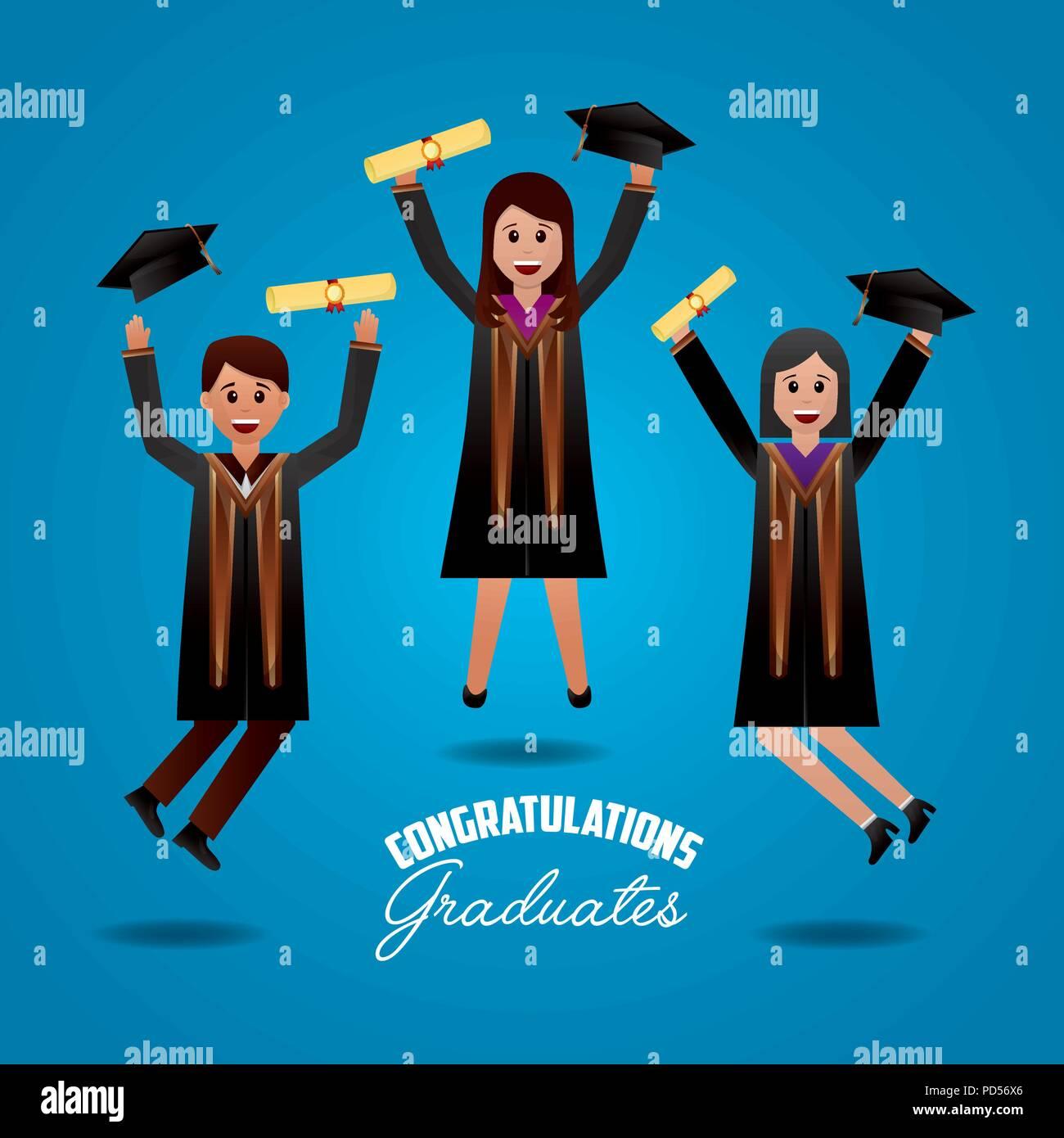 Congratulations Graduation Card Stock Vector Art Illustration
