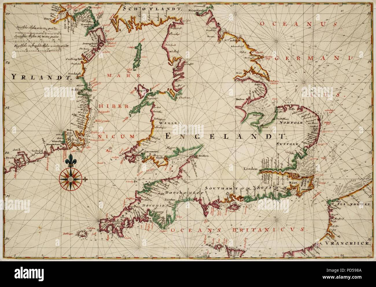 South Of Ireland Map.Map Of England The South Of Ireland And Part Of The French Coast