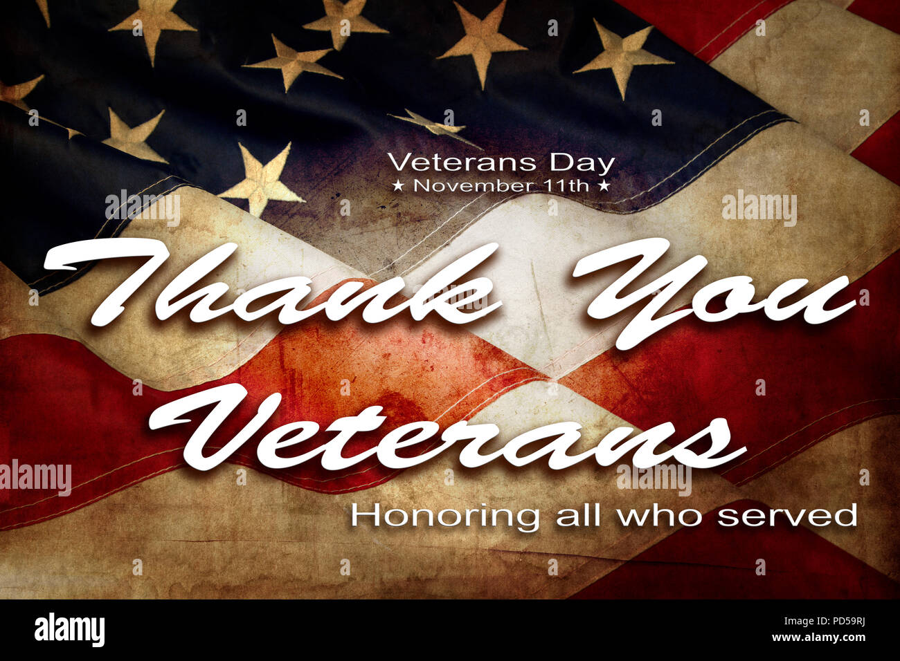 American Flag Veterans Day Text Stock Photo 214632422 Alamy