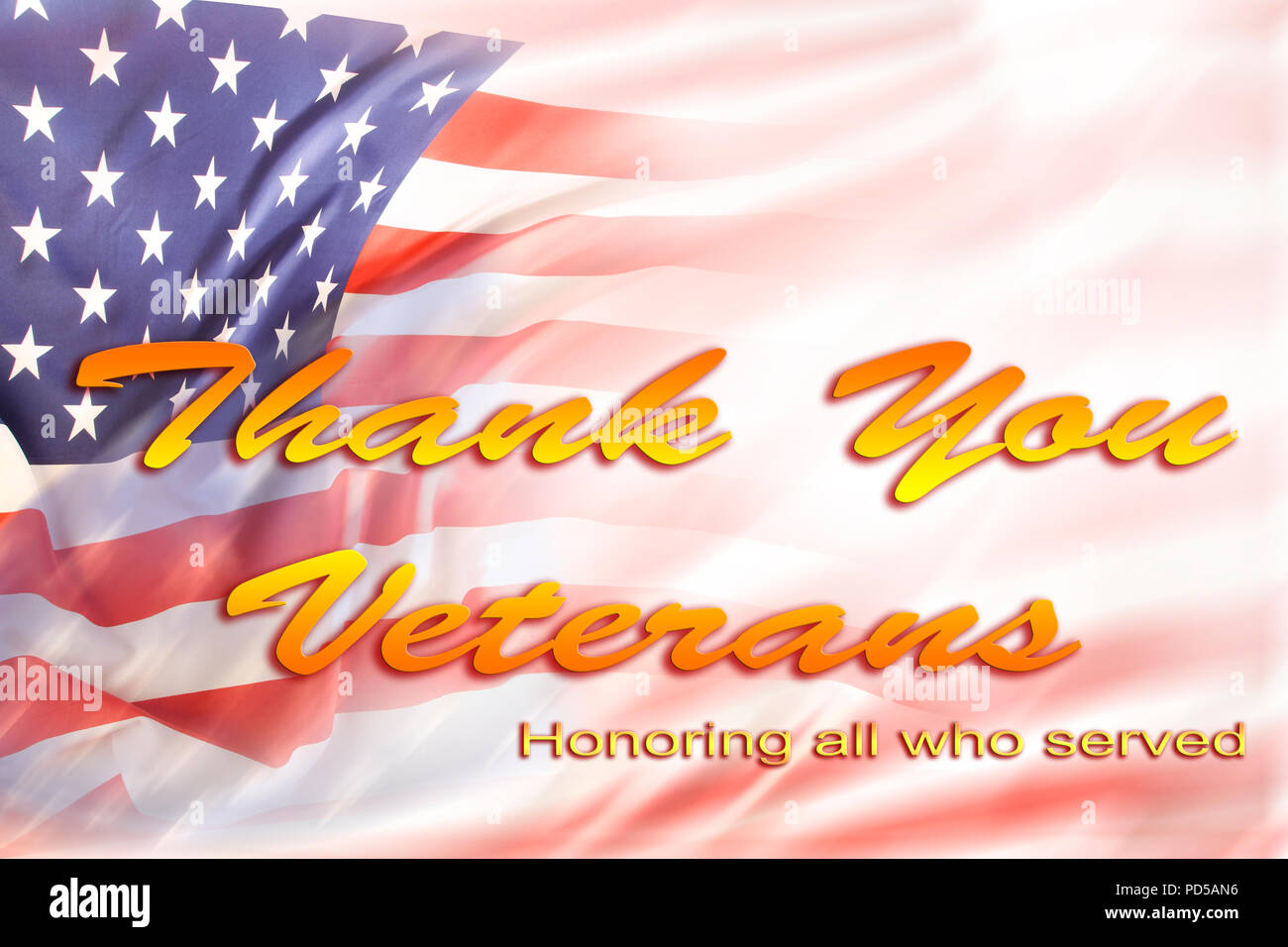 American Flag Veterans Day Text Stock Photo 214633138 Alamy