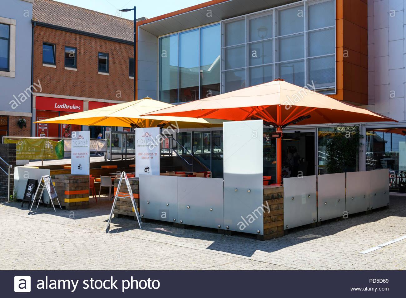 Nourish restaurant, Didcot, Berkshire, England, UK - Stock Image