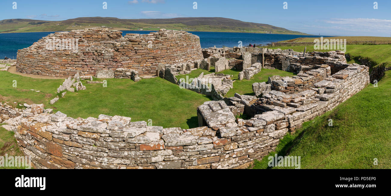 The Broch of Gurness, Evie, Orkney - Stock Image