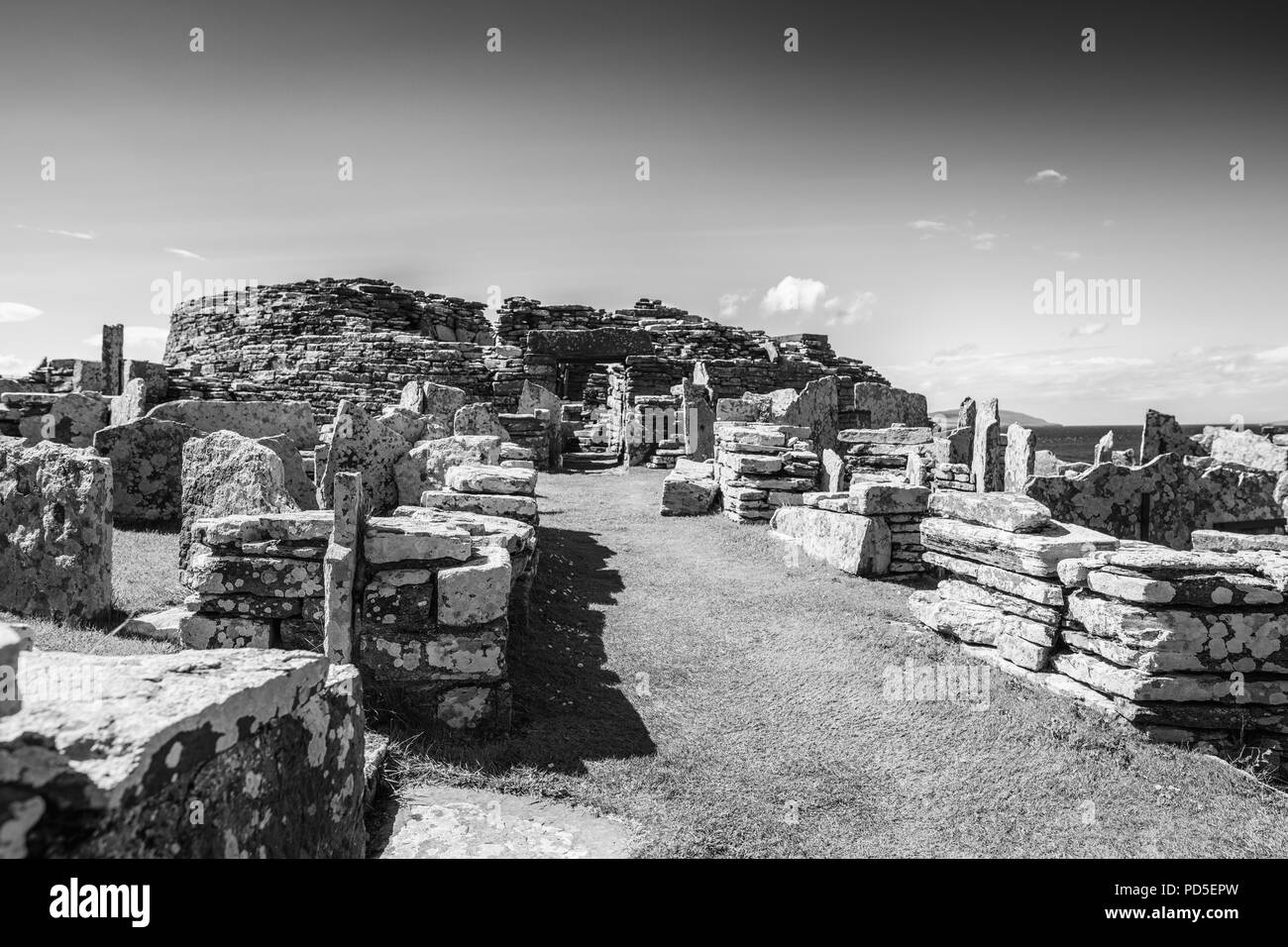The Broch of Gurness, Evie, Orkney. - Stock Image