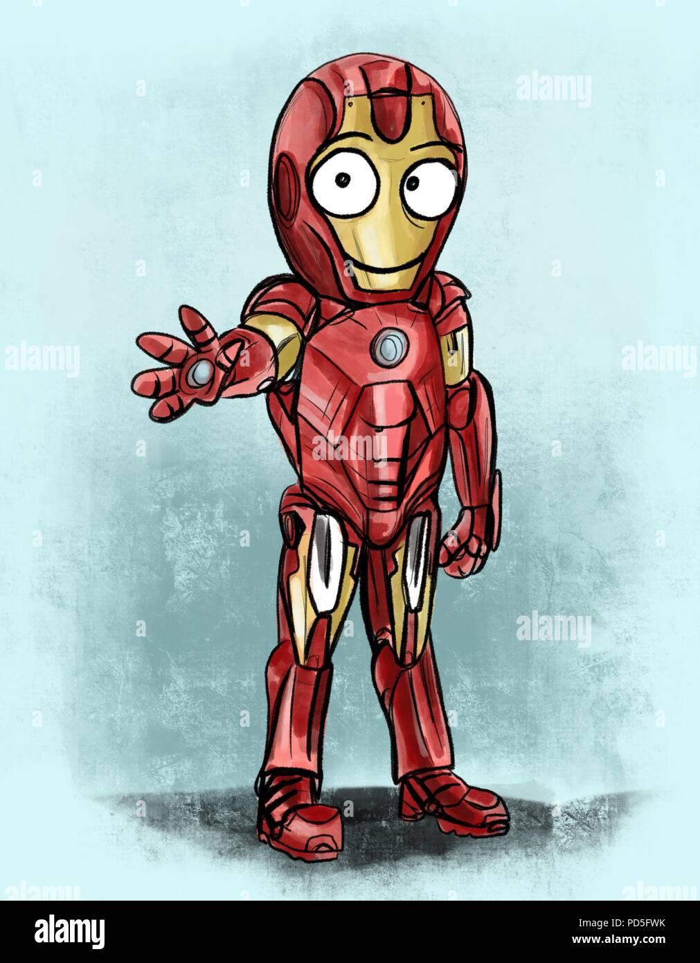 cute iron man - Stock Image
