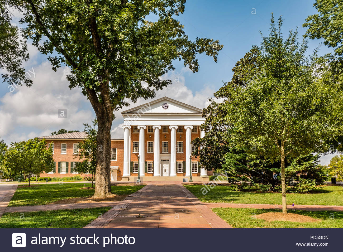 The Lyceum building at the University of Mississippi, Ole Miss, completed in 1848 and used as a hospital during the United States Civil War in Oxford. - Stock Image