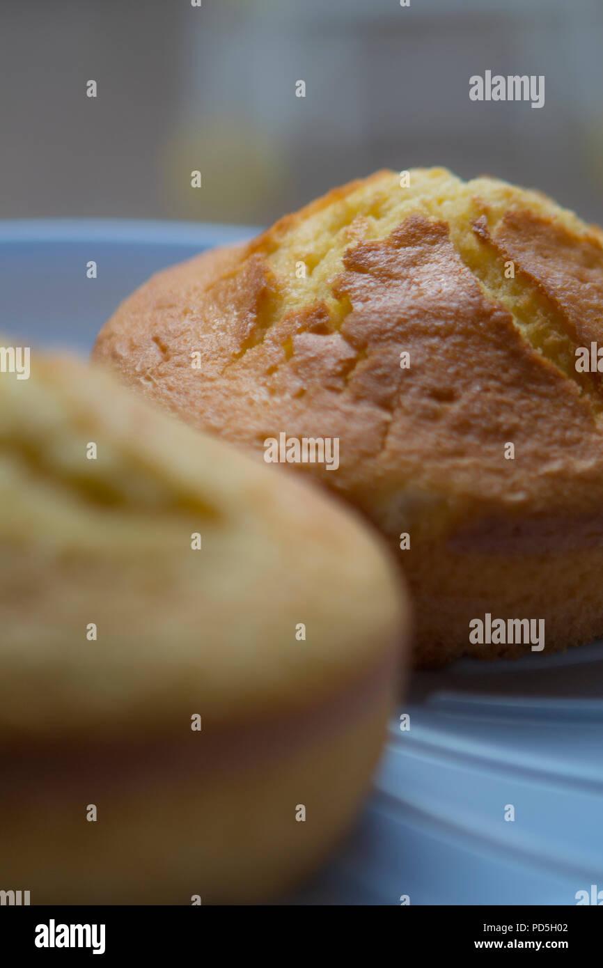 Mums homemade lemon cakes. - Stock Image