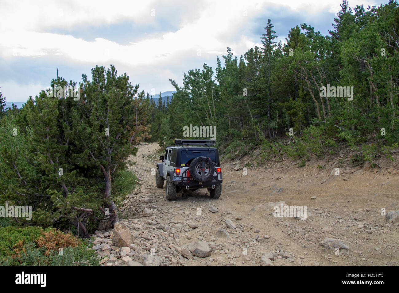 Exploring Yankee Hill in the Jeep - Stock Image