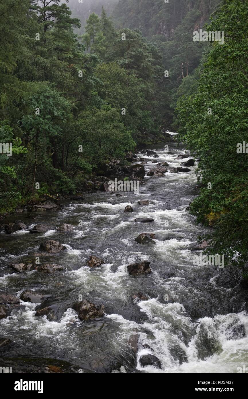 Snowdonia, Rivers and landscapes - Stock Image
