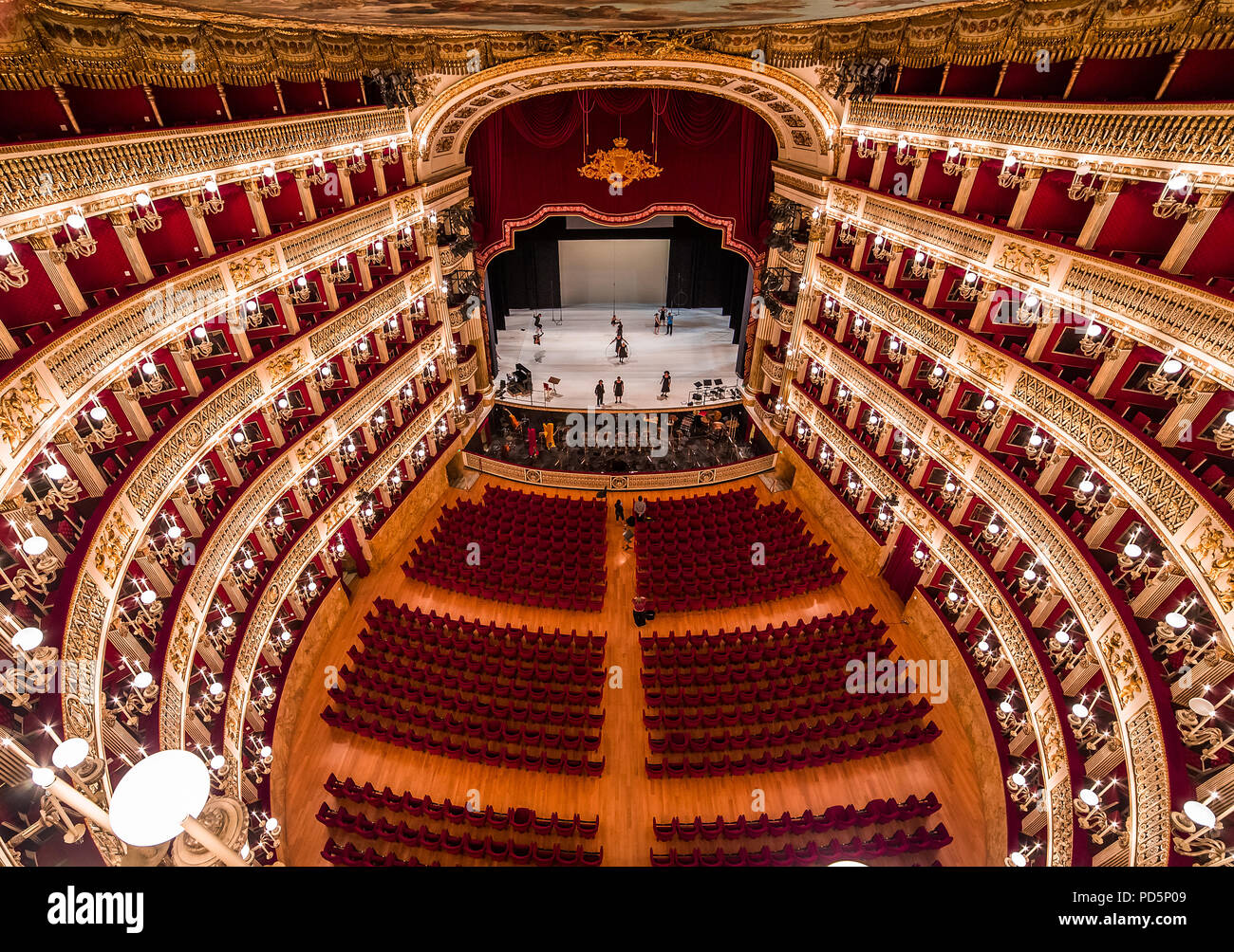 NAPLES, ITALY , MAY 16, 2014, Interiors and details of the Teatro di San  Carlo, Naples opera house, built 1737, May 16, 2014, in Naples, Italy Stock  Photo - Alamy