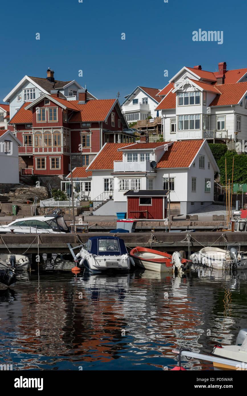 Mollosund in Sweden in summer Stock Photo