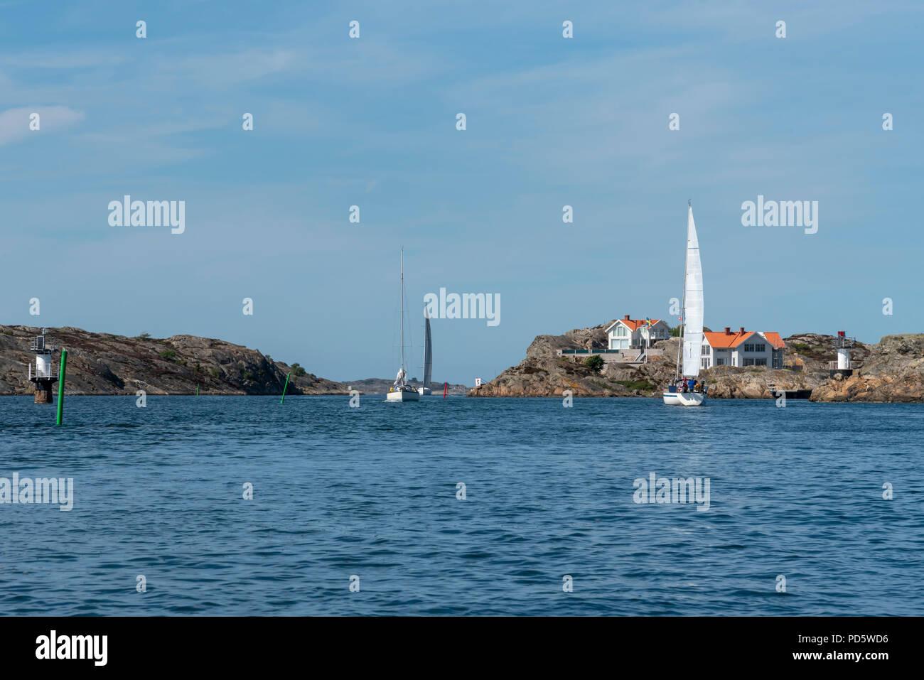 Sailing on the west coast Stock Photo