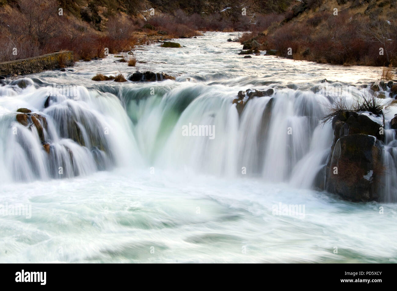Steelhead Falls, Steelhead Falls Wilderness Study Area, Deschutes Wild and Scenic River, Prineville District Bureau of Land Management, Oregon - Stock Image