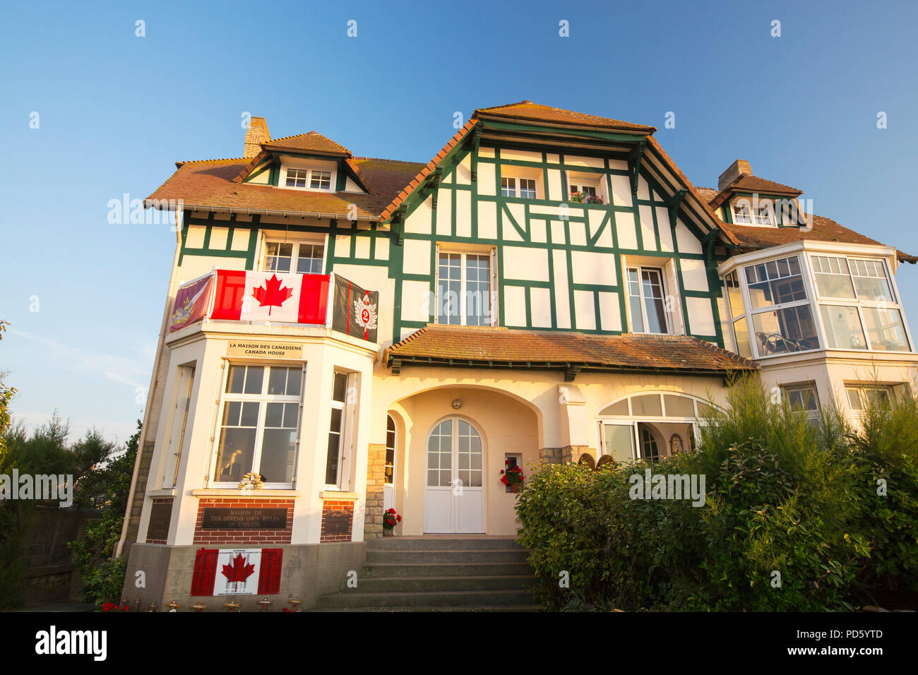 Canada House Probably The First House To Be Liberated From D Day On Juno Beach Bernieres Sur Mer Normandy France Stock Photo Alamy