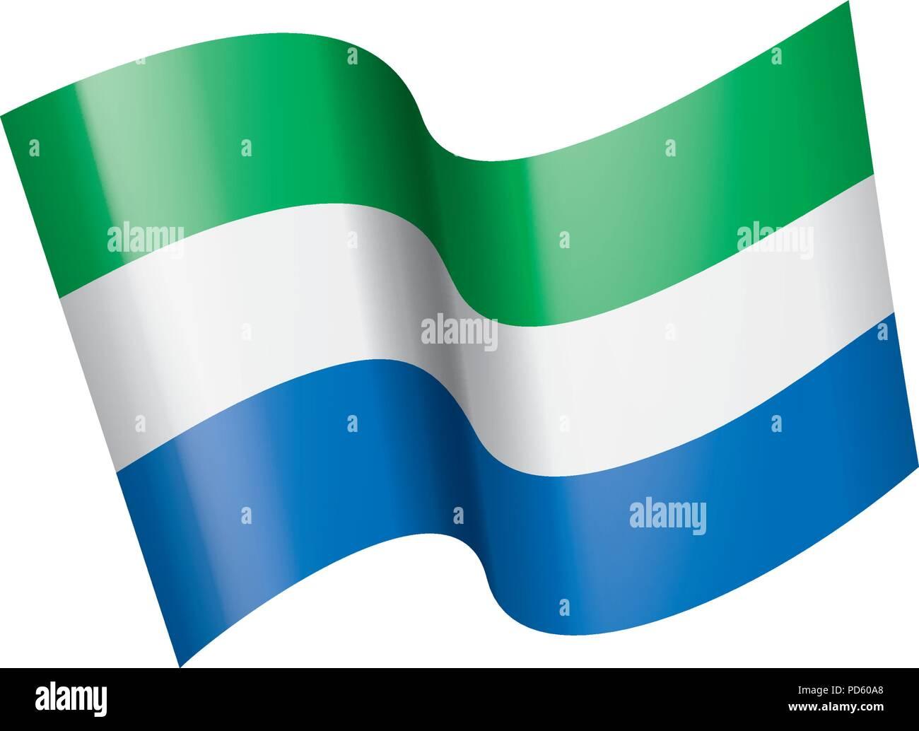 Sierra Leone flag, vector illustration Stock Vector Art