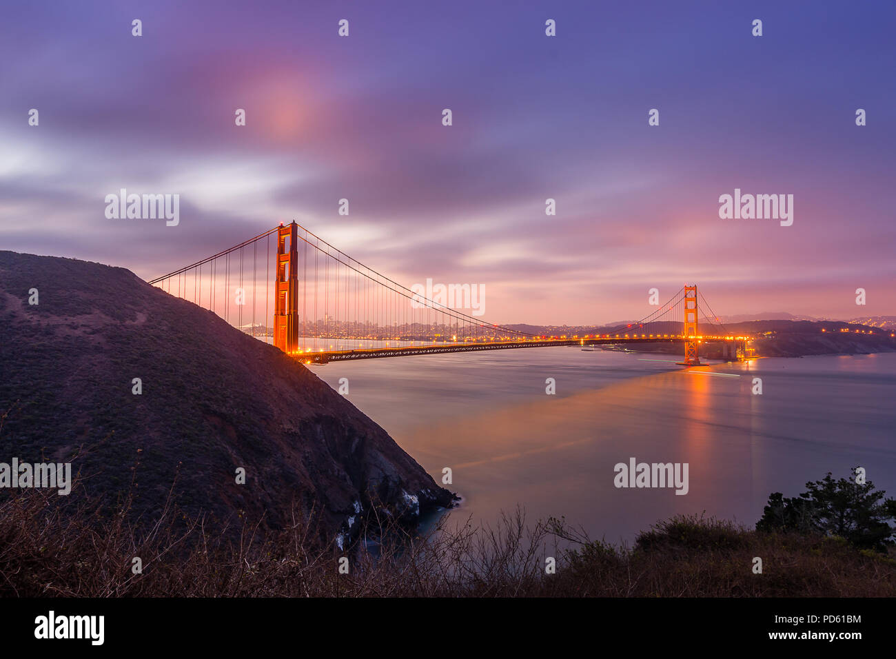 Kirby Cove Sunrise - Stock Image