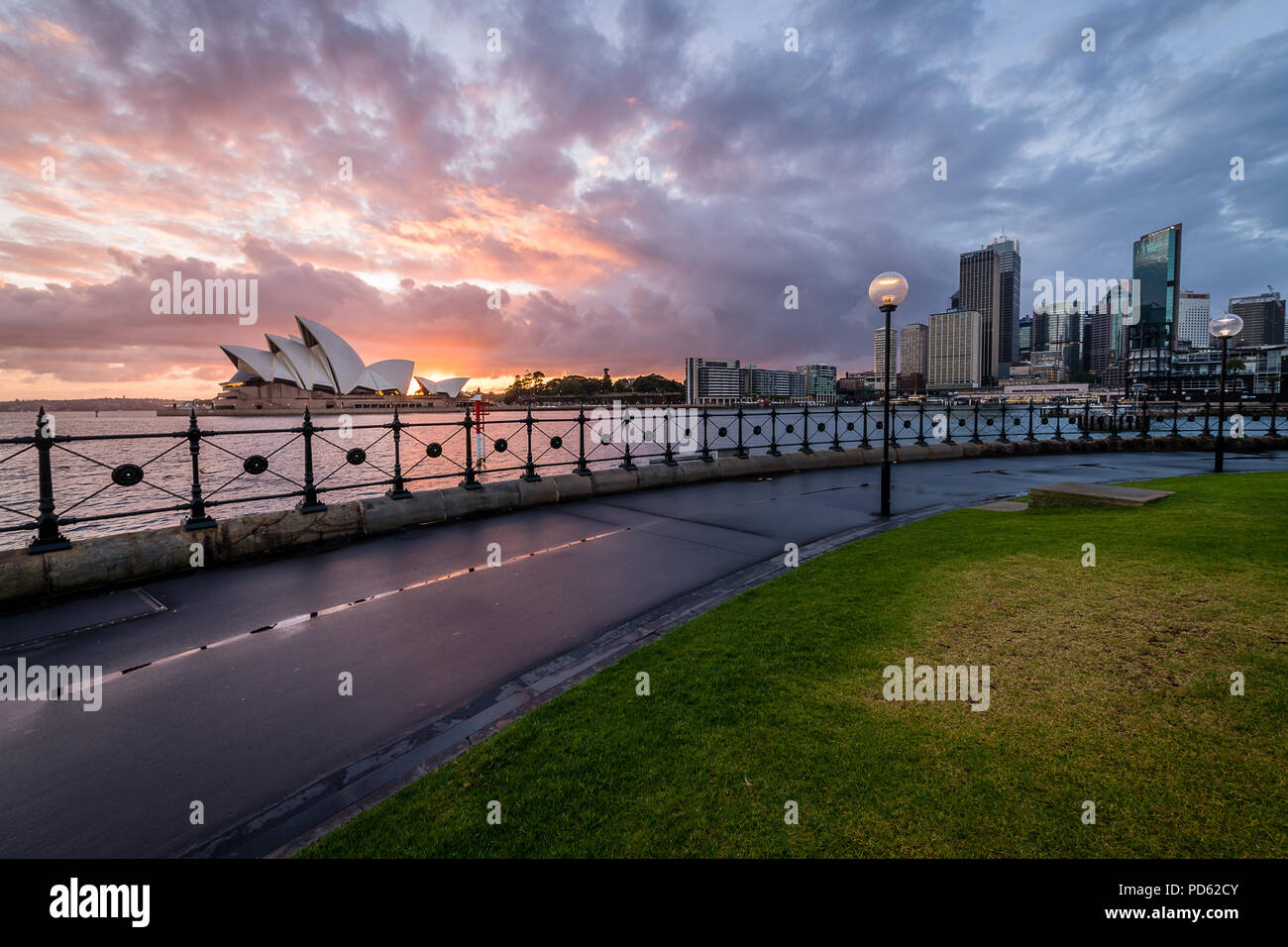 Dawn from Dawes Point - Stock Image