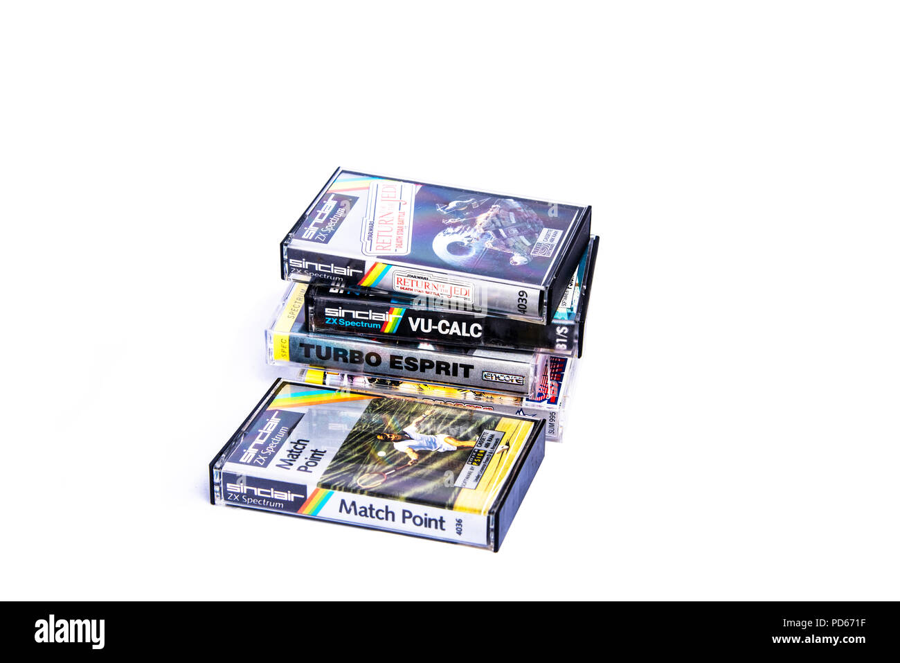 Program cassette tapes for the Sinclair Spectrum ZX - Stock Image