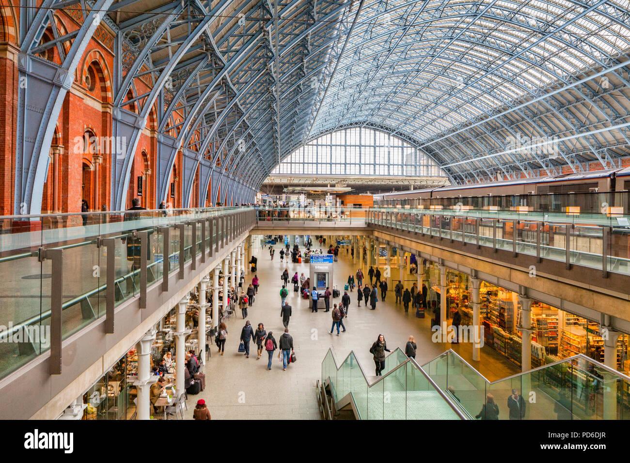 The Concourse, St Pancras Station, London, England, UK, - Stock Image