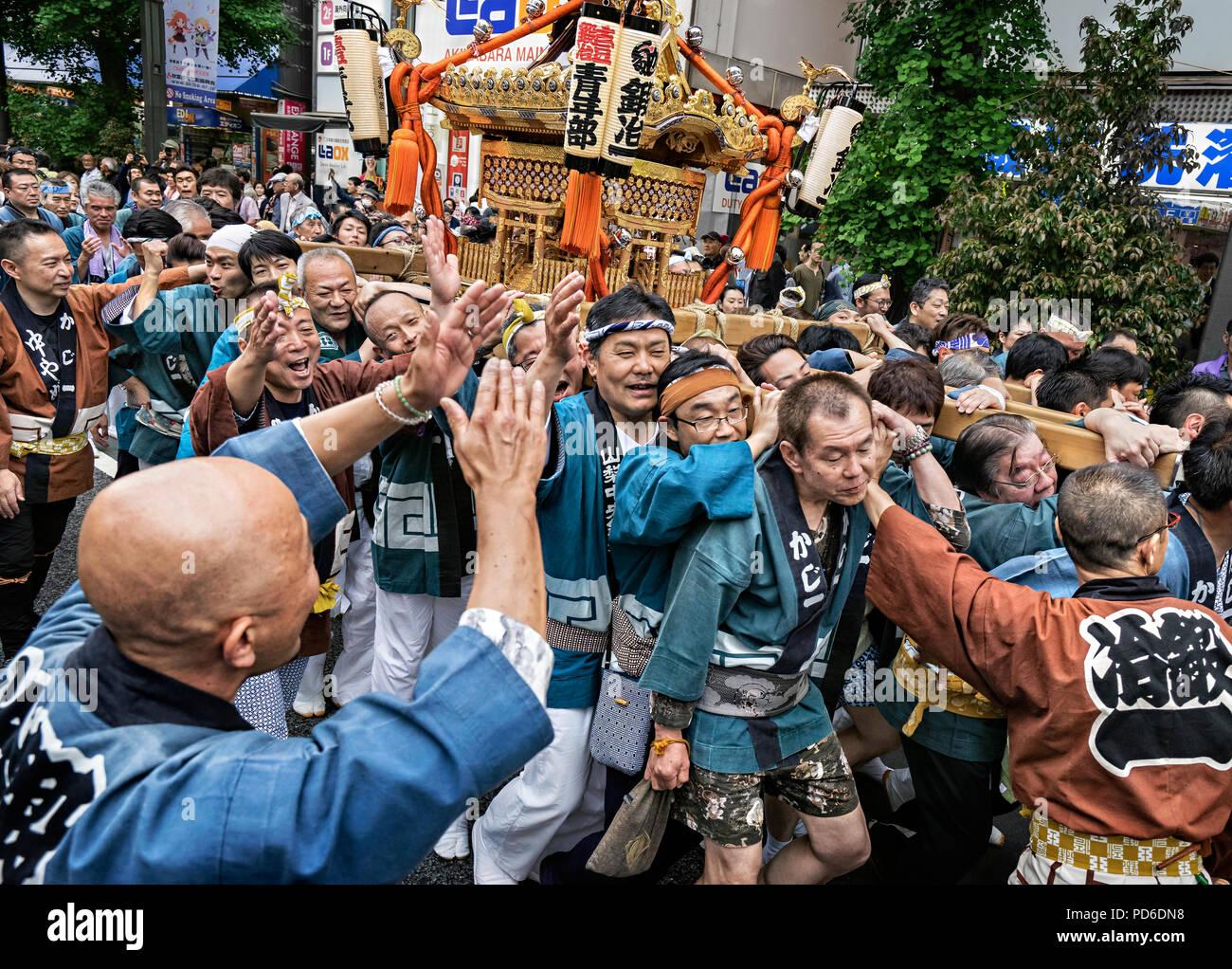 Japan, Honshu island, Kanto, the Kanda Matsuri. Stock Photo
