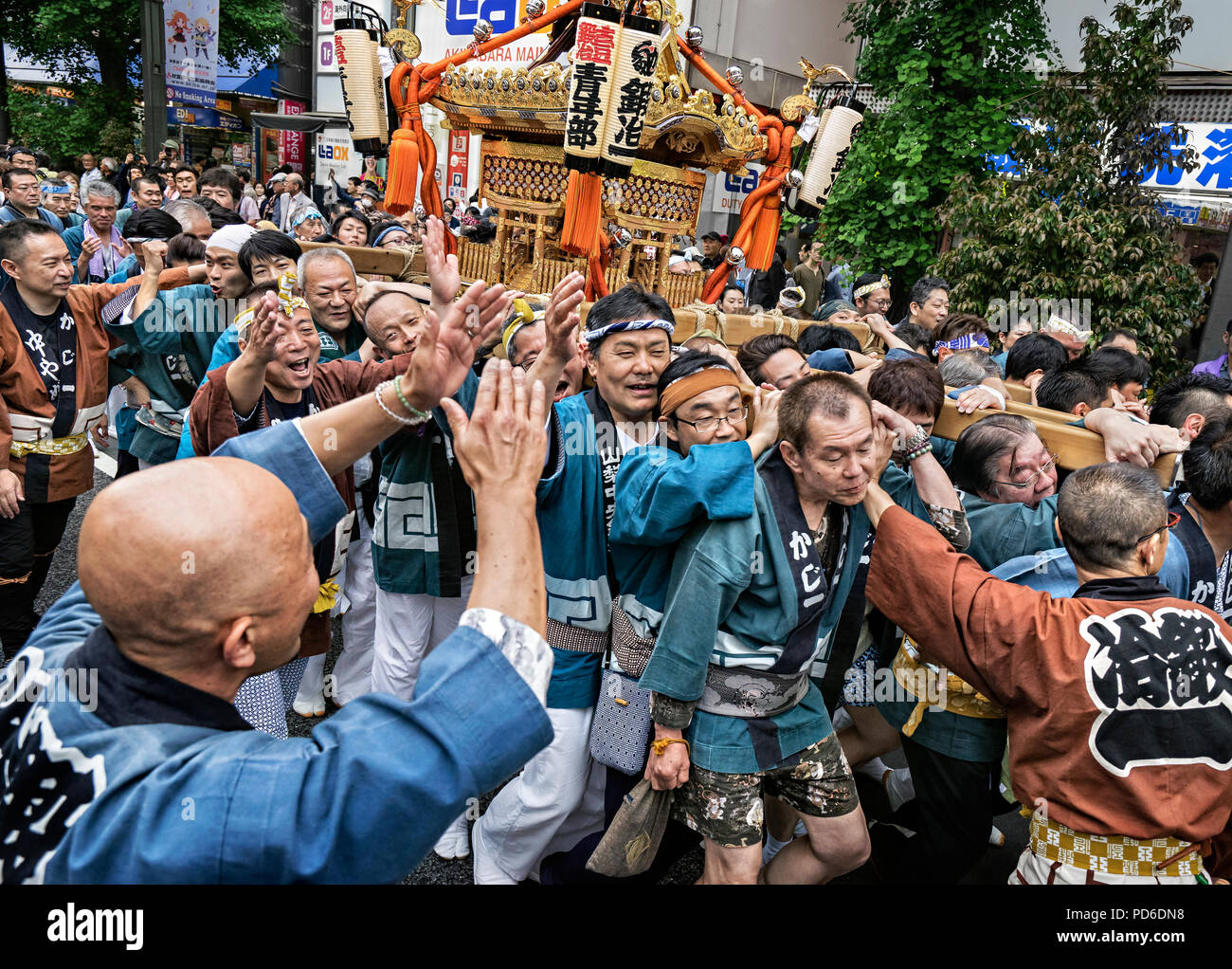 Japan, Honshu island, Kanto, the Kanda Matsuri. - Stock Image