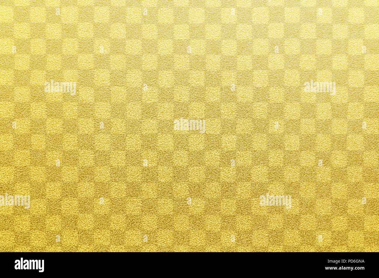 Japanese gold checkered pattern paper texture or vintage background Stock Photo