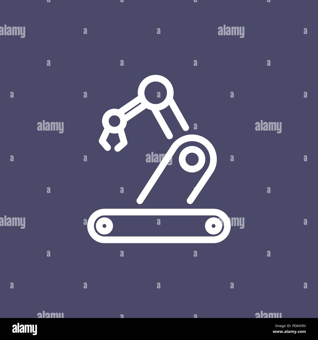 Robotics Icon Simple Flat Style Outline Illustration Stock Vector