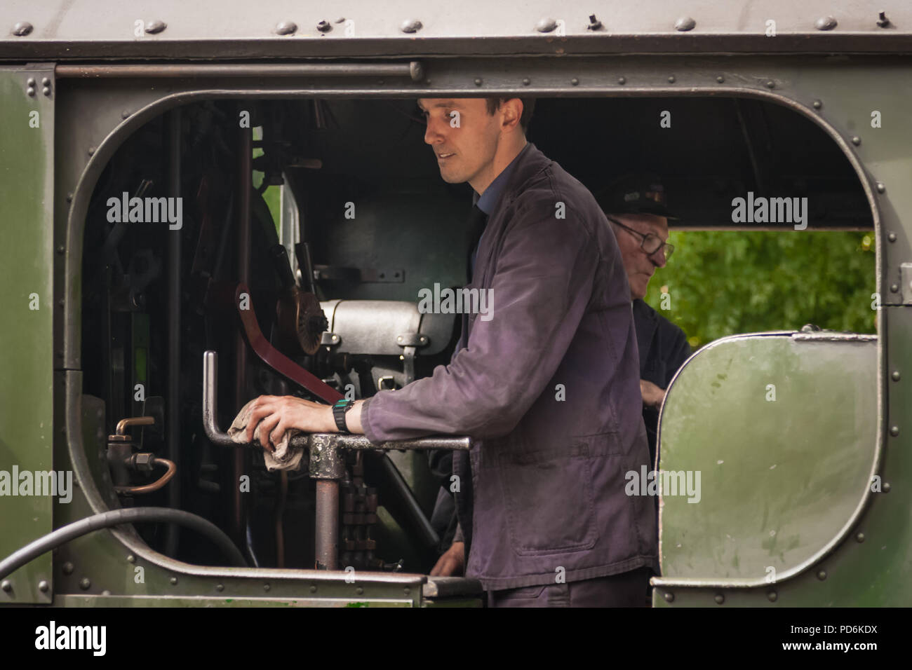 Steam Locomotive on the volunteer driven Bodmin and Wenford Railway Stock Photo