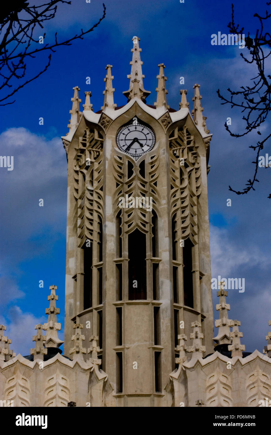 Old clock tower architecture sight of Auckland NZ New Zealand Stock Photo