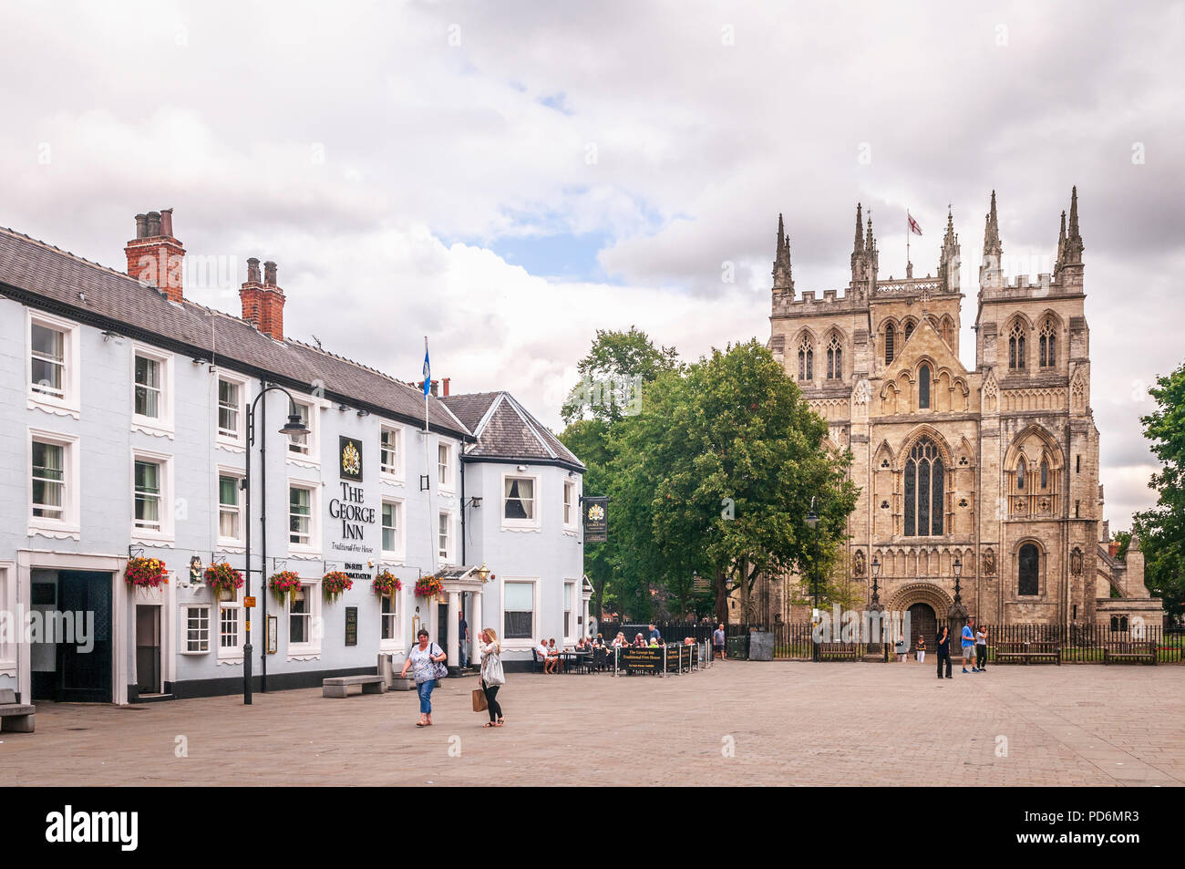 Selby Abbey.Yorkshire. - Stock Image