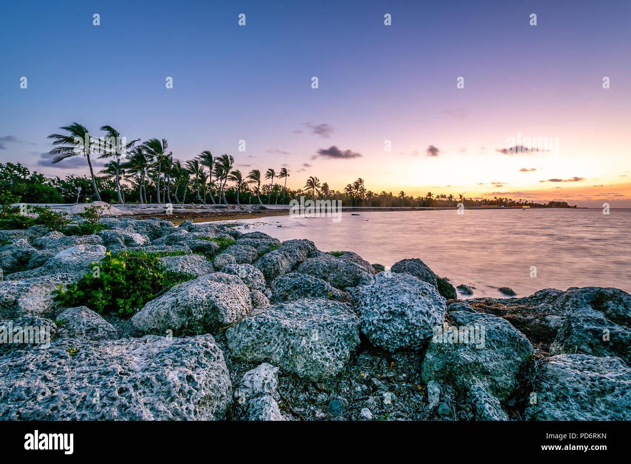Smathers Beach - Stock Image