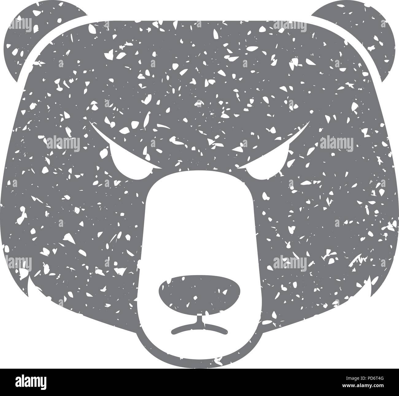 Grunge icon - Bear - Stock Image
