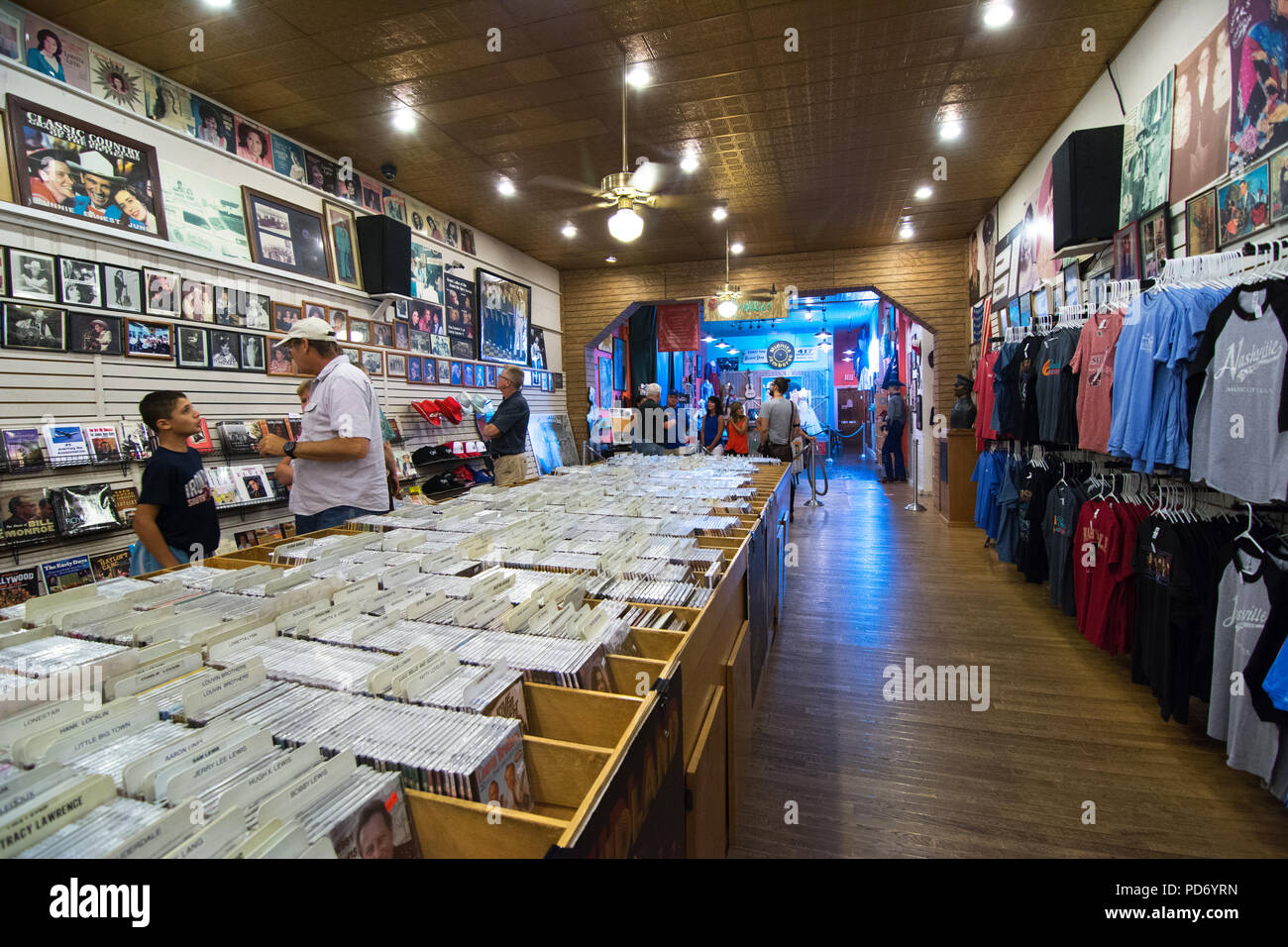 The interior of the famous Ernest Tubb Record Shop in Nashville, Tennessee, USA - Stock Image