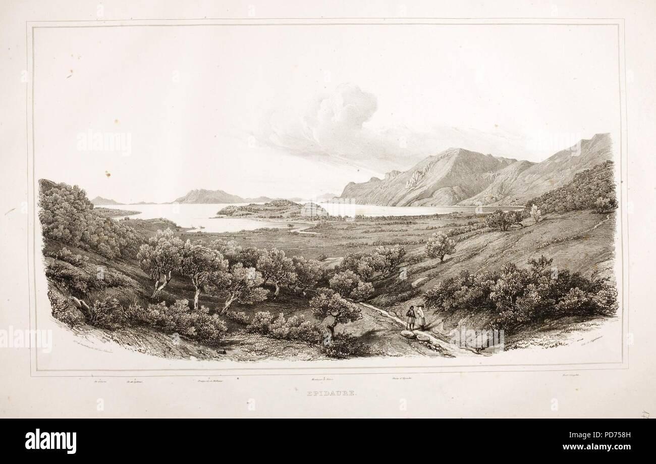 Ancient Epidaurus 1810's. - Stock Image