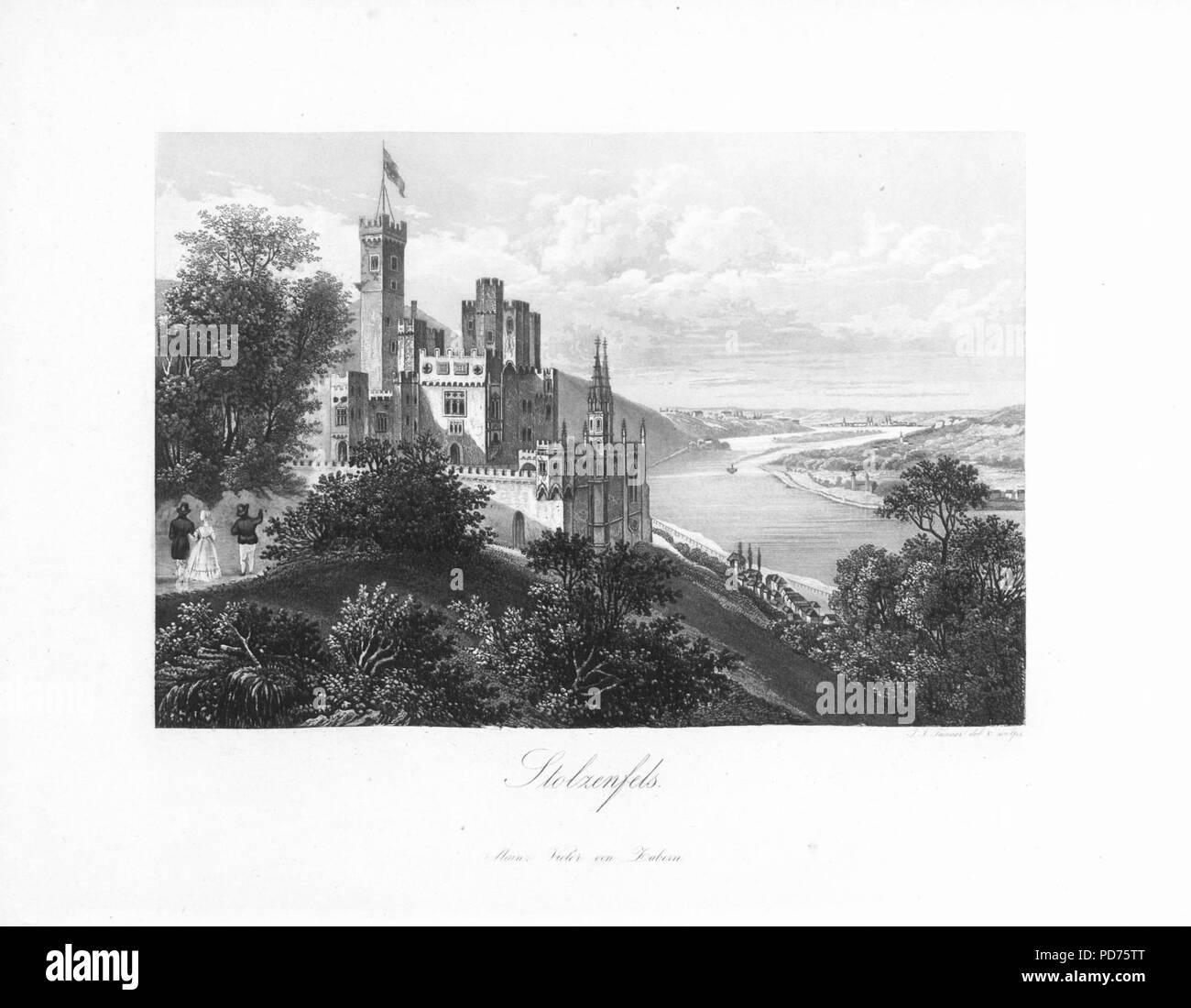 Andenken an den Rhein (1840) 018. - Stock Image