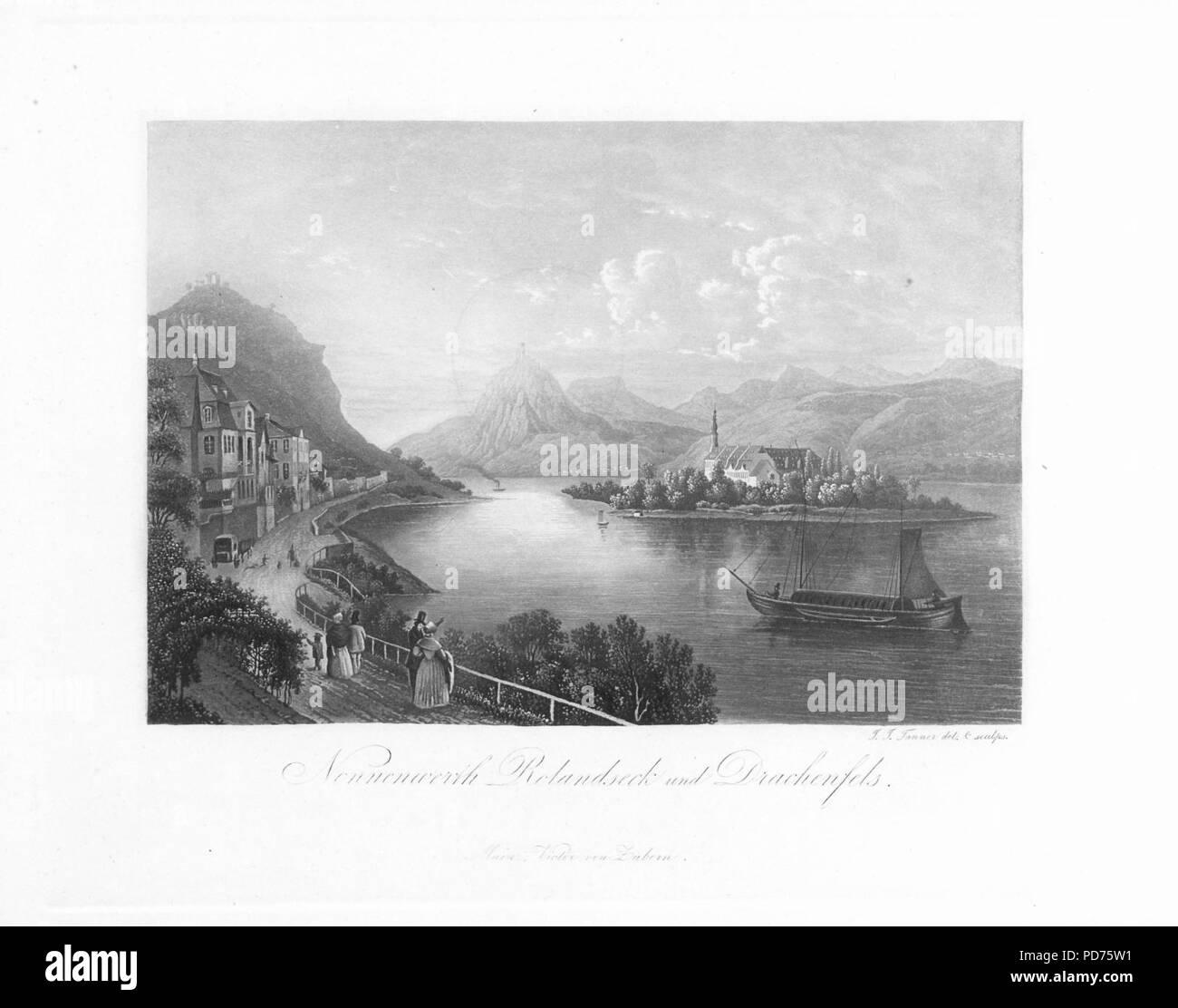 Andenken an den Rhein (1840) 023. - Stock Image