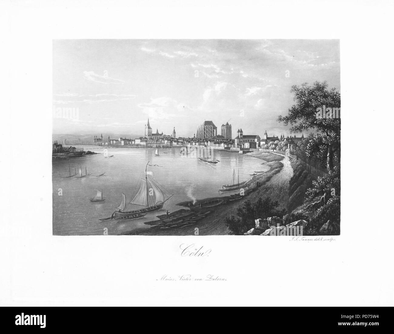 Andenken an den Rhein (1840) 026. - Stock Image