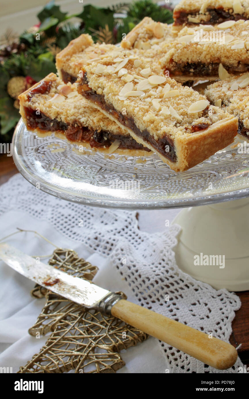 traditional traybake dessert - Stock Image
