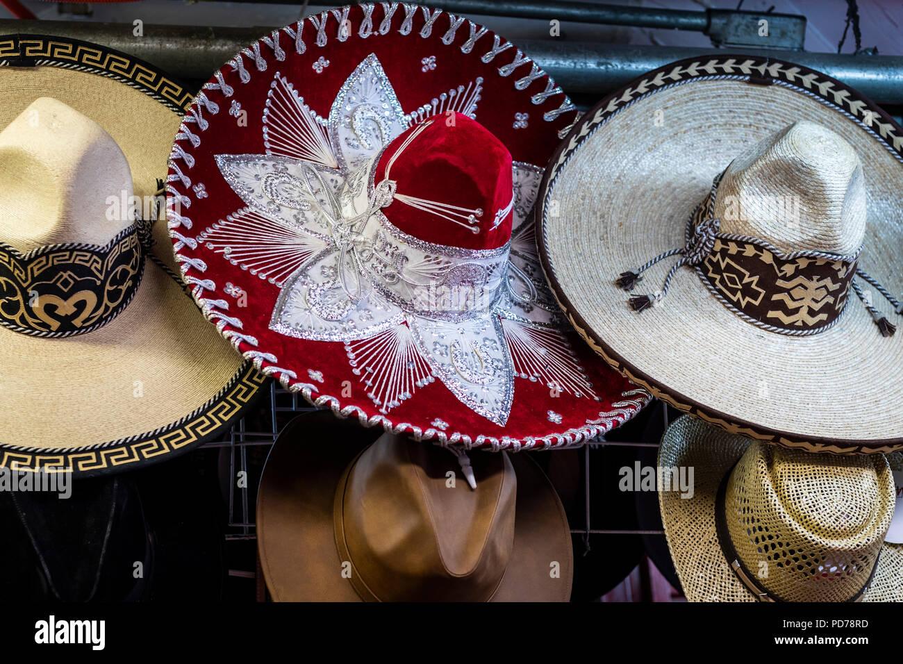 Mexican sombreros in the San Juan de Dios market of Guadalajara ... 0d388d8abed