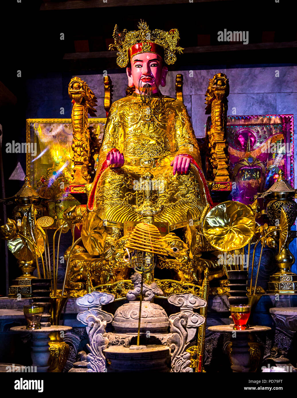 Statue at Buddhist Temple - Stock Image