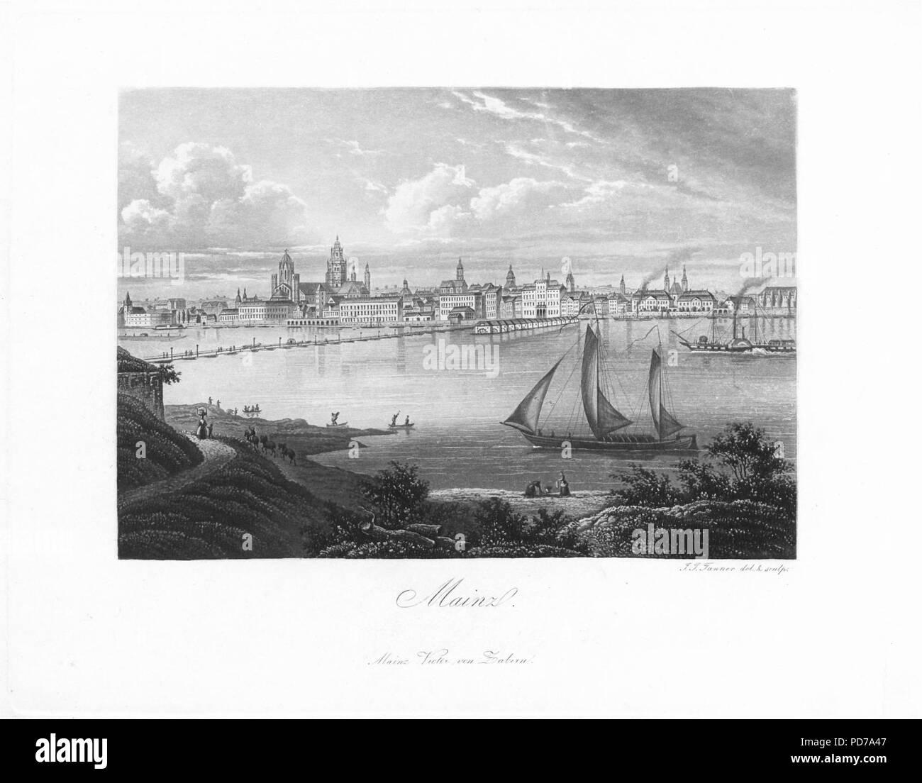 Andenken an den Rhein (1840) 003. - Stock Image