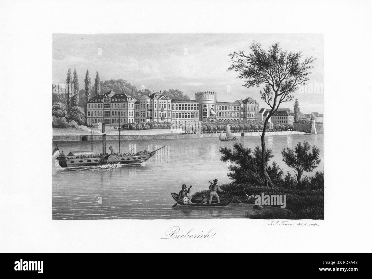 Andenken an den Rhein (1840) 004. - Stock Image