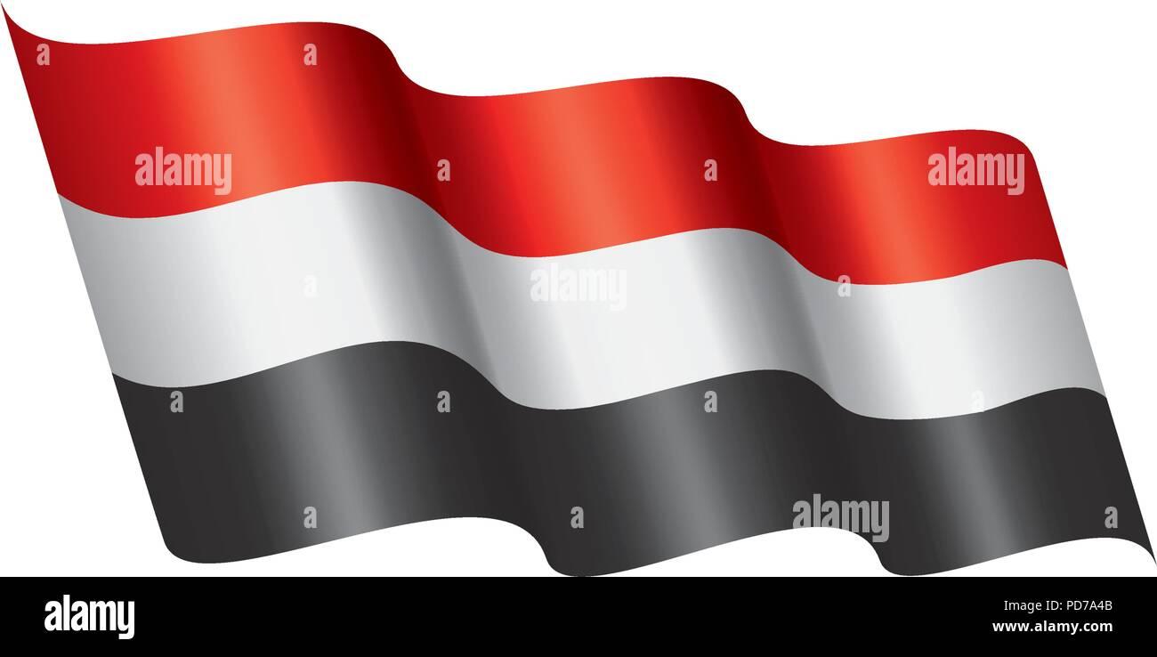 Yemeni flag, vector illustration - Stock Vector