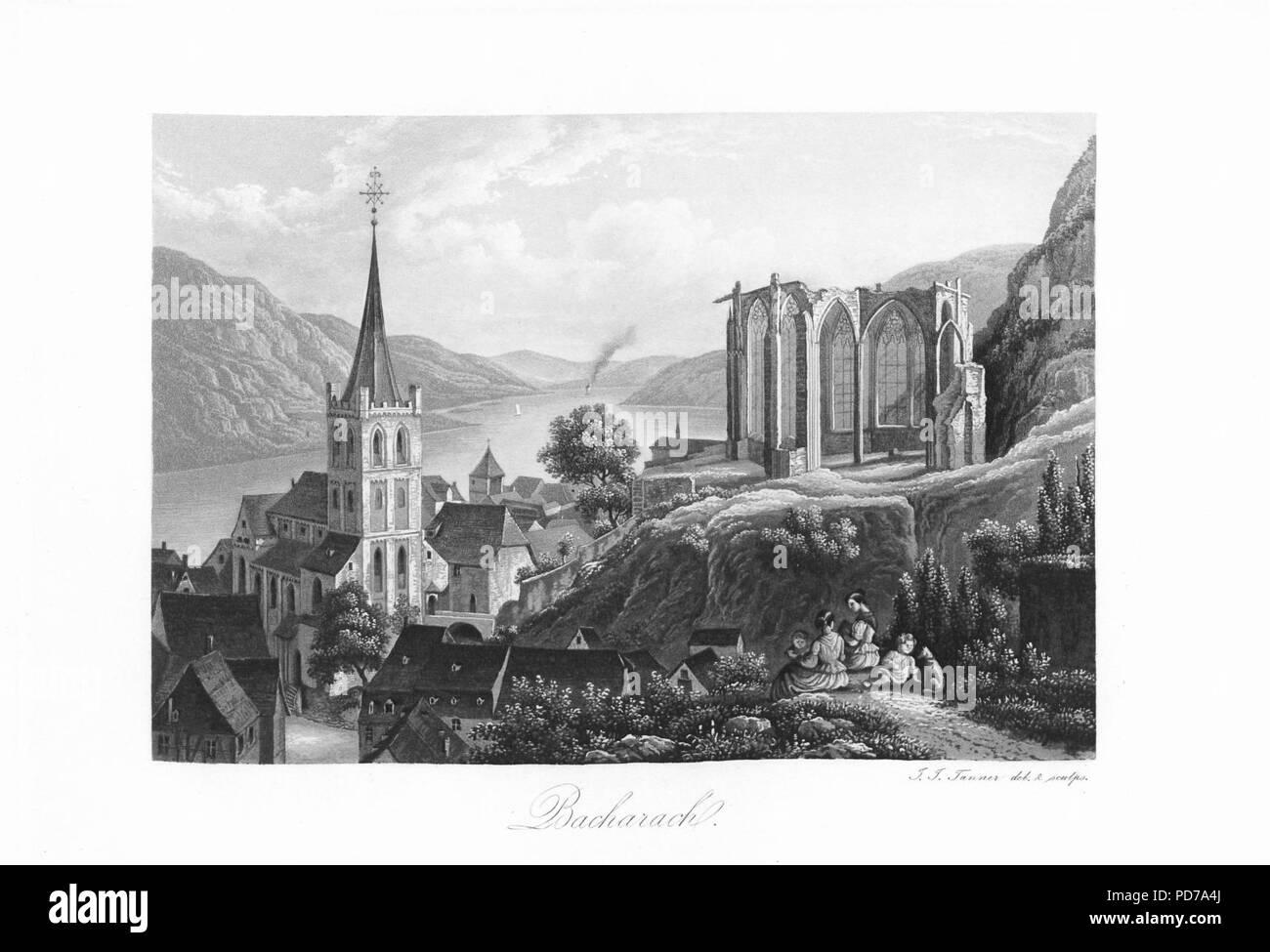 Andenken an den Rhein (1840) 009. - Stock Image