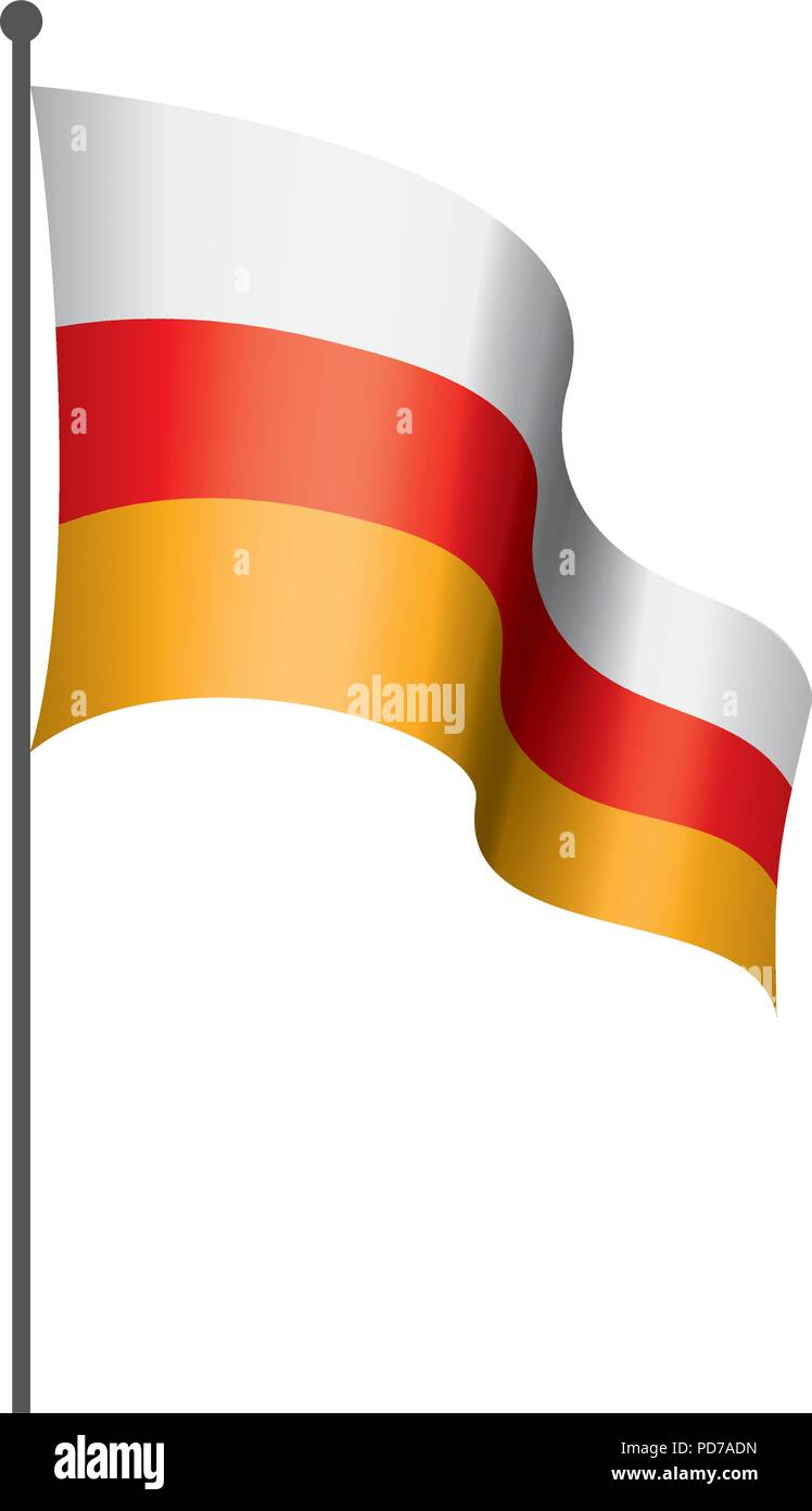 South Ossetia flag, vector illustration - Stock Image